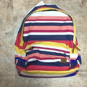 Retro Stripes Roxy Sugar Baby Canvas backpack NWT